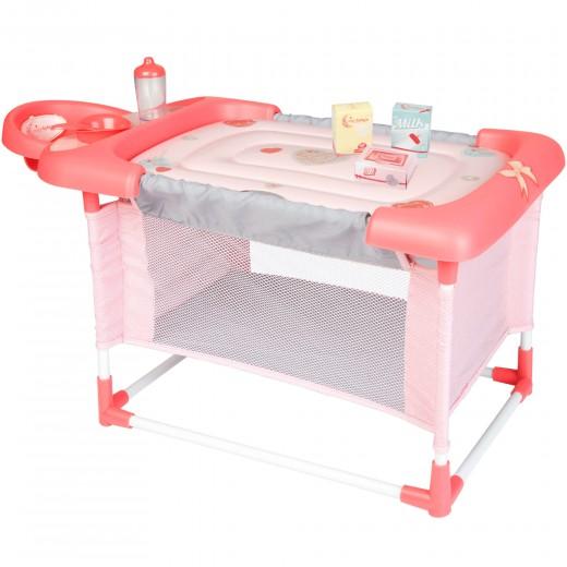 Cuna, cambiador y trona para muñecas 3 en 1 con accesorios CB Toys