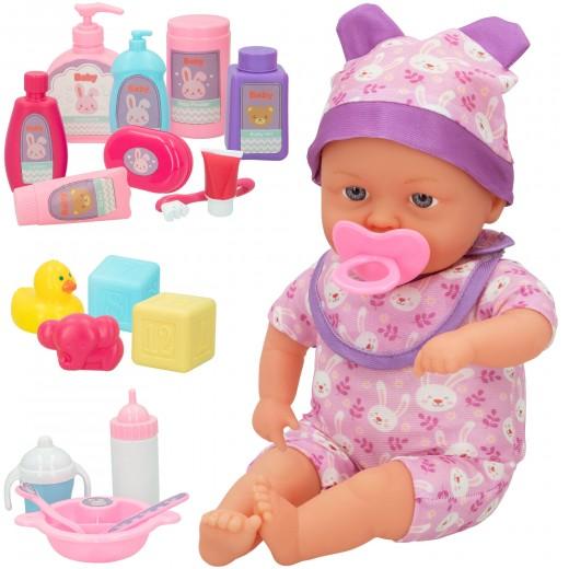 Muñeco bebé blandito con sonidos y accesorios colorbaby's