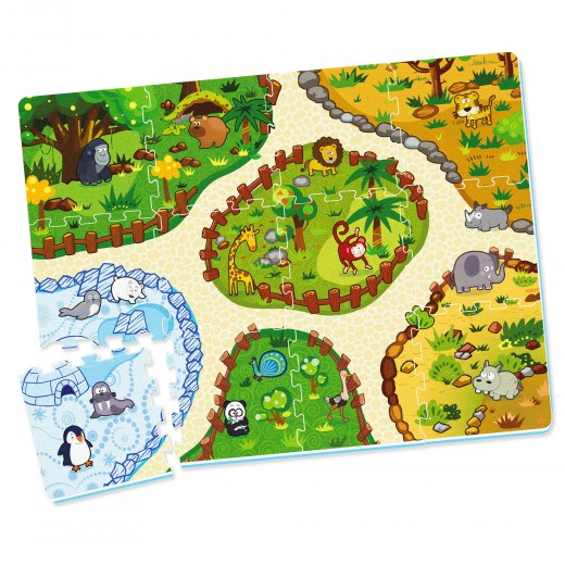 Alfombra puzzle zoo C'Baby