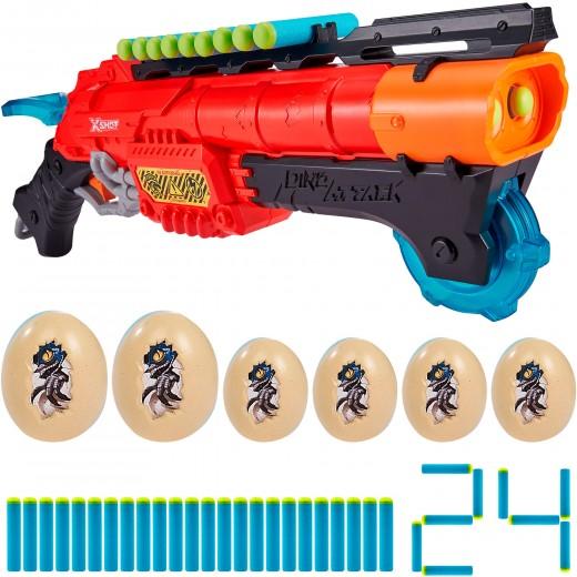 Escopeta con munición y 6 huevos Claw Hunter Dino Attack X-Shot