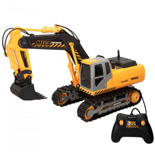 Excavadora radiocontrol niños 3 años Mega Excavator New Bright