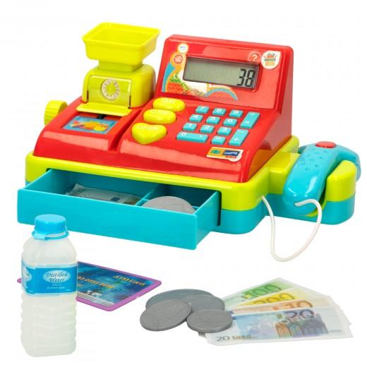Caja registradora con luz, sonido y calculadora My Market