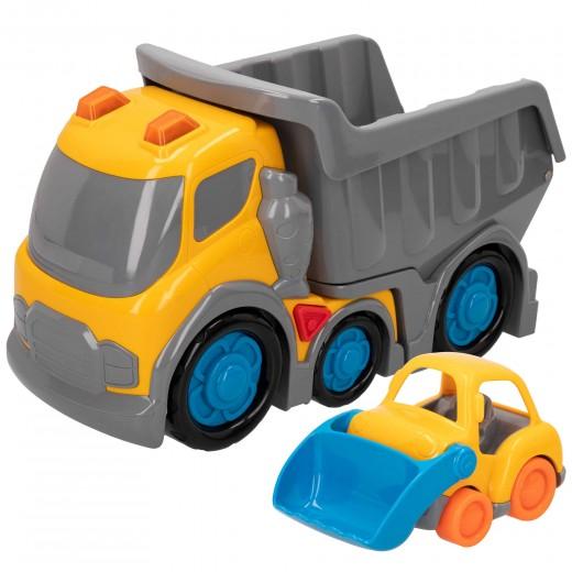 Camión volquete con luz y sonidos Kiddy GO!