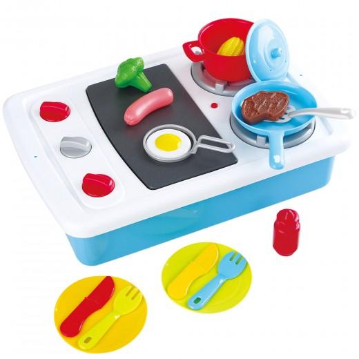 Cocina de juguete con luz, sonido y accesorios PlayGo