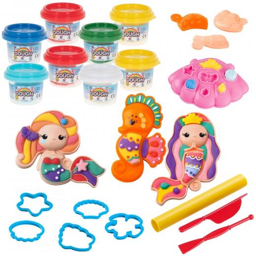 Plastilina sirenas con moldes y accesorios PlayGo