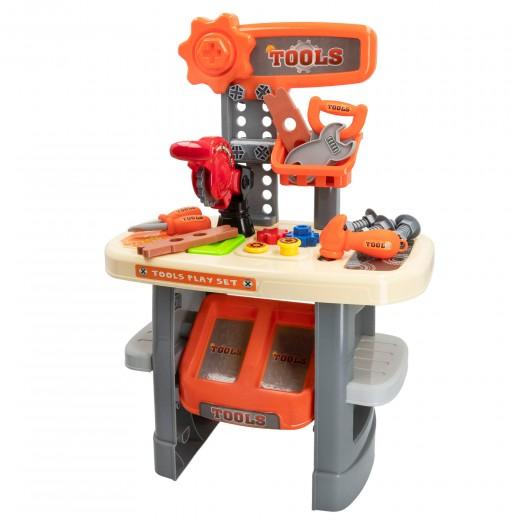 Banco de herramientas de juguete con accesorios My Tools
