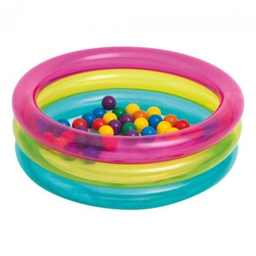 Piscina de bolas hinchable INTEX con 50 bolas de colores