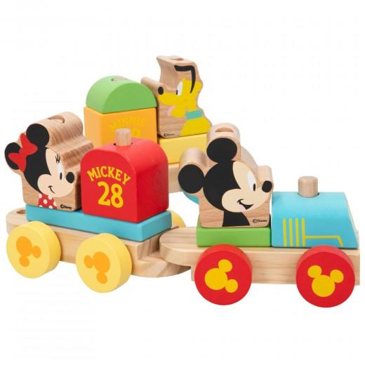 Tren de madera Mickey y Minnie WOOMAX Disney