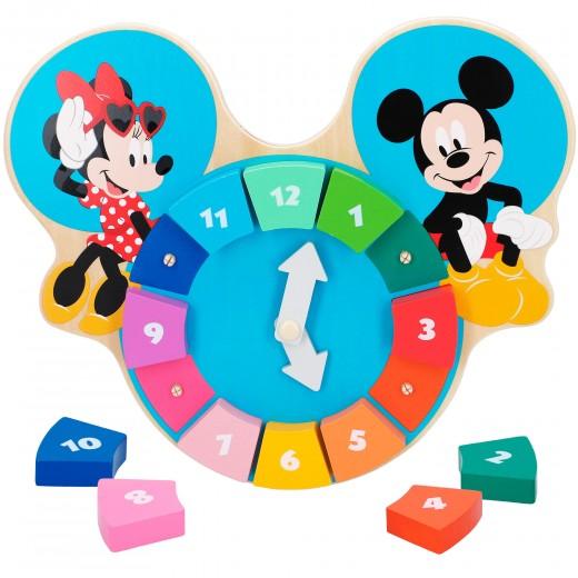Reloj puzzle madera Mickey y Minnie WOOMAX