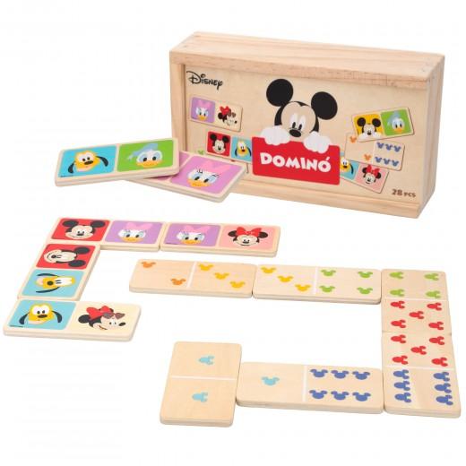 Dominó de madera Mickey y Minnie Disney WOOMAX