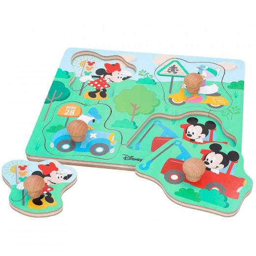 Puzle madera botones Mickey WOOMAX Disney