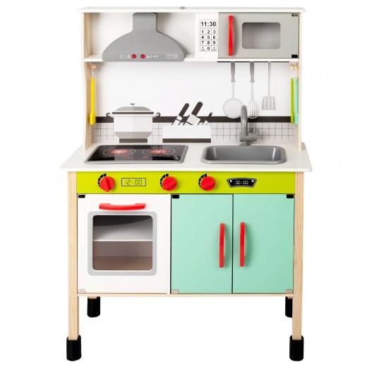 Cocina juguete madera con luz y sonido woomax 70x30x104 cm