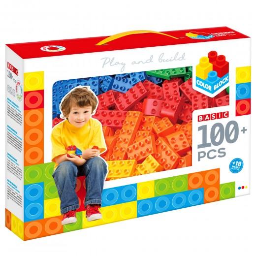 Bloques construcción 100 piezas Color Block Basic