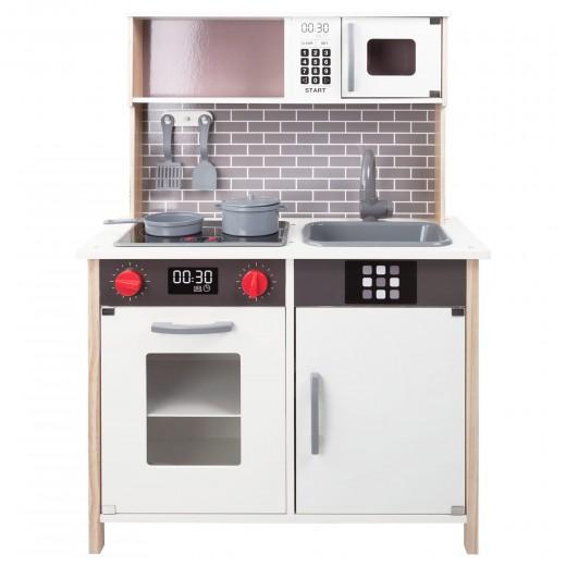 Cocina de madera con accesorios, luz y sonido WOOMAX
