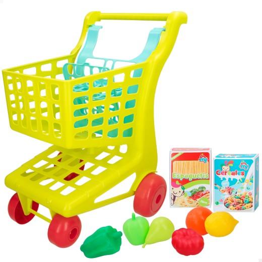 Carrito supermercado con alimentos My Home Colors