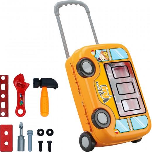 Maletín herramientas con ruedas y asa 10 piezas CB Games