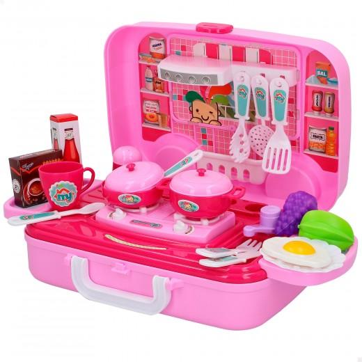 Cocina eléctrica maletín con accesorios CB Games