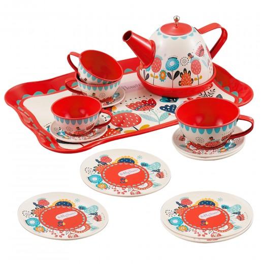 Utensilios cocina juego de té infantil en metal 15 piezas My Home
