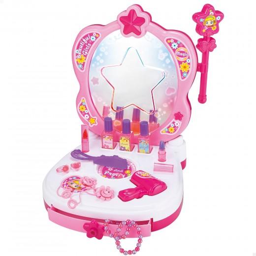 Tocador de belleza infantil con accesorios Beauty Fashion Princess