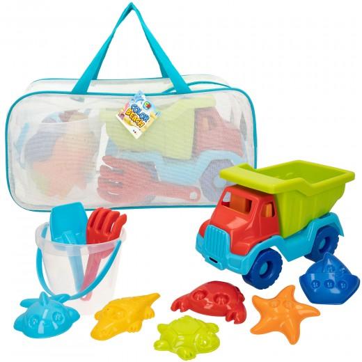 Set de playa Camión con accesorios Color Beach