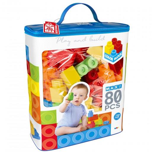 Bolsa bloques construcción 80 piezas Color Block Maxi