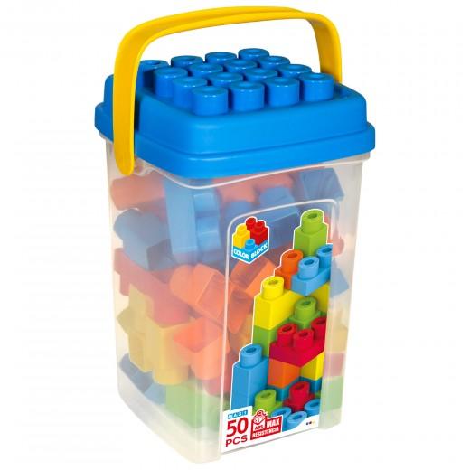 Cubo bloques construcción 50 piezas Color Block Maxi