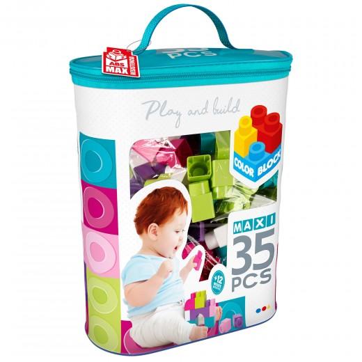Bolsa bloques construcción 35 piezas Color Block Maxi