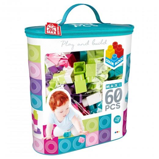 Bolsa bloques construcción 60 piezas Color Block Maxi