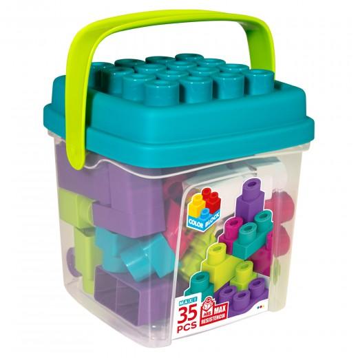 Cubo bloques construcción 35 piezas Color Block Maxi