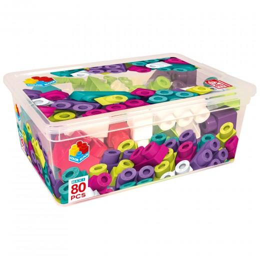 Caja bloques construcción 80 piezas Color Block Maxi