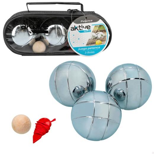 Estuche petanca con 3 bolas Aktive Sports