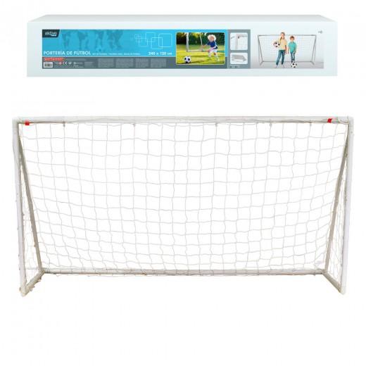 Portería de fútbol plegable 240x120 cm Aktive Sports