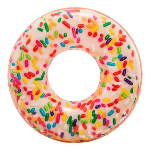 Rueda hinchable Intex Donut de colores 114 cm diámetro