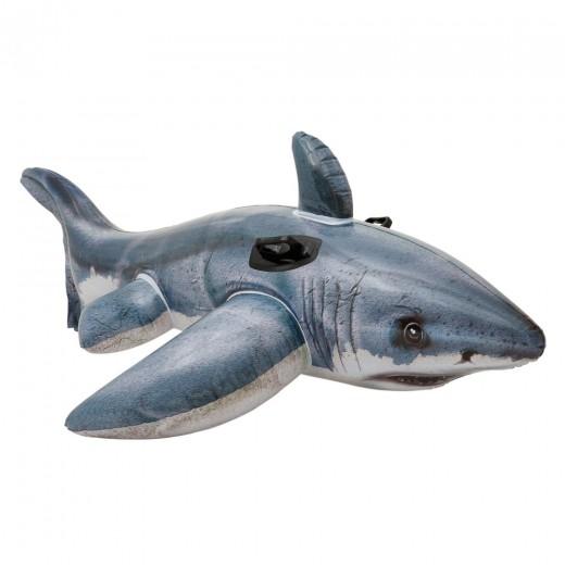 Tiburón hinchable intex fotorrealista + 2 asas - 173x107 cm