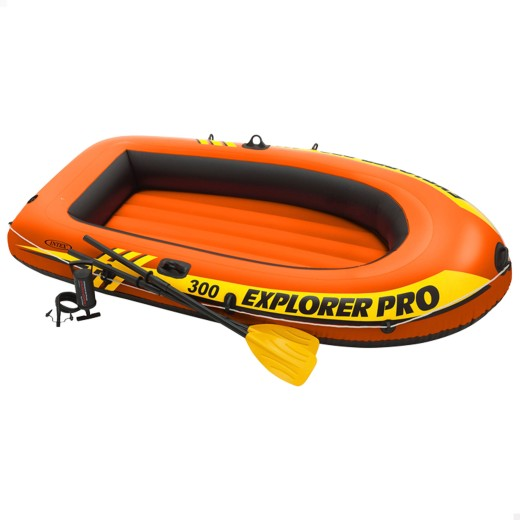 Barca hinchable explorer pro300 remos+hinchador 244x117x36cm
