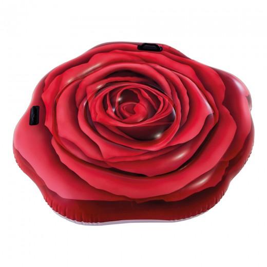 Rosa Roja hinchable INTEX fotorrealista con asas