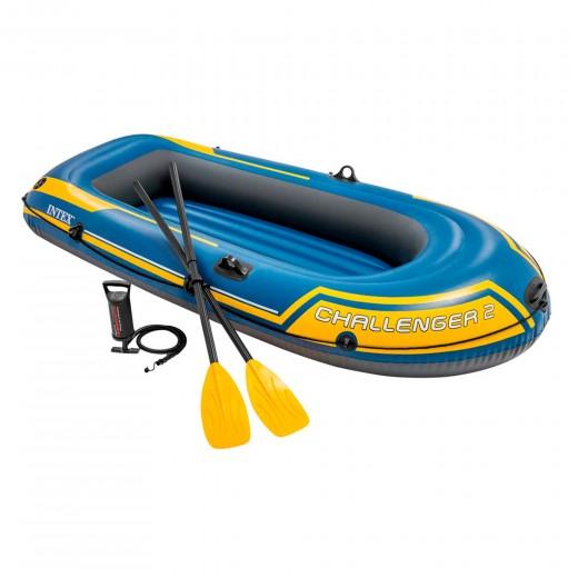 Barca hinchable Intex challenger 2 & remos - 236 x 114 x 41 cm