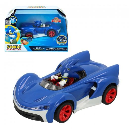 Coche RC Sonic con luz y Turbo Bost Team Sonic Racing