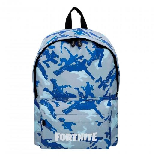 Mochila Fortnite Camuflaje azul 31x43 cm