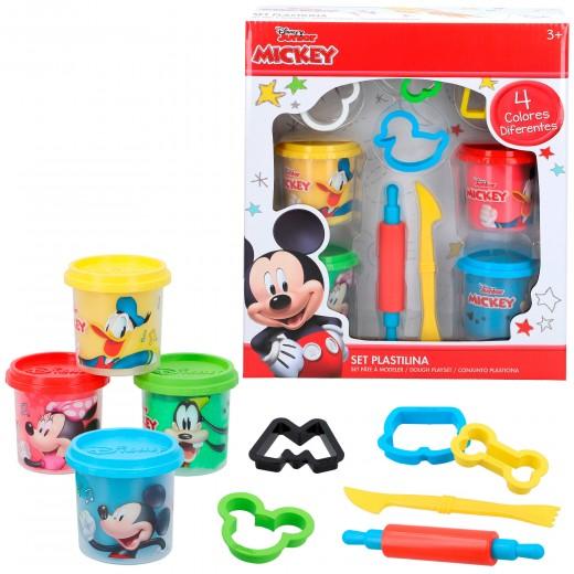 Kit plastilina Mickey 4 botes de 114 g con moldes y herramientas Disney