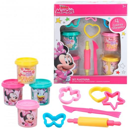 Kit 4 botes plastilina con accesorios Disney