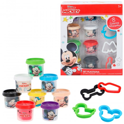 Kit plastilina Mickey 8 botes de 28 g con moldes y herramientas Disney
