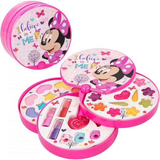Set de maquillaje redondo con 3 niveles Minnie Mouse Disney