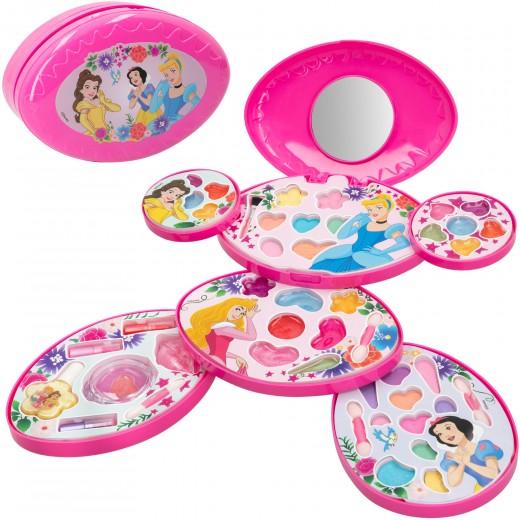 Estuche de maquillaje infantil 6 niveles Princesas Disney
