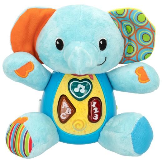 Peluche elefante para bebés que habla & luces de colores - idioma: español