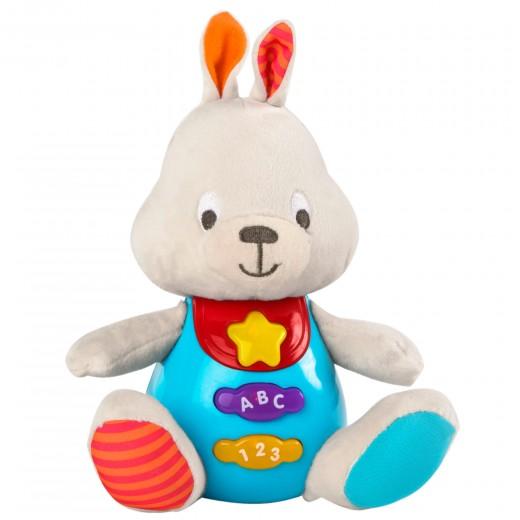 Peluche conejo para bebés que habla & luces de colores - idioma: español