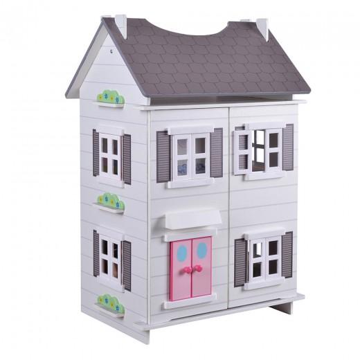 Casa de muñecas de madera 2 plantas
