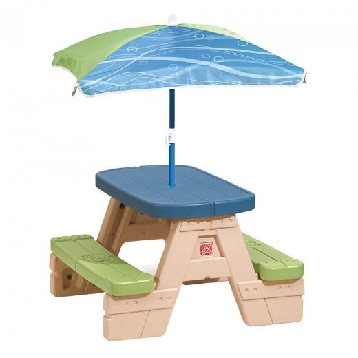 Mesa picnic con sombrilla Sit&Play Step2