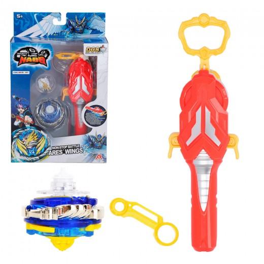 Peonza Infinity Nado 5 Ares Wings con lanzador magnético