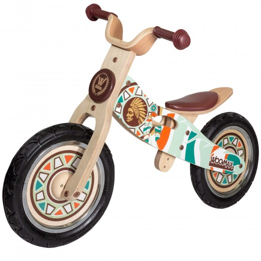 Bicicleta sin pedales madera Indian WOOMAX